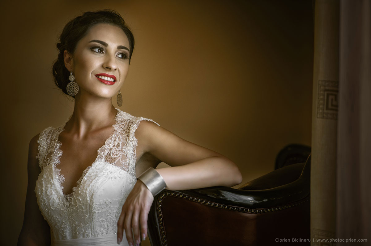 Brautportrait nach den Hochzeitsvorbereitung