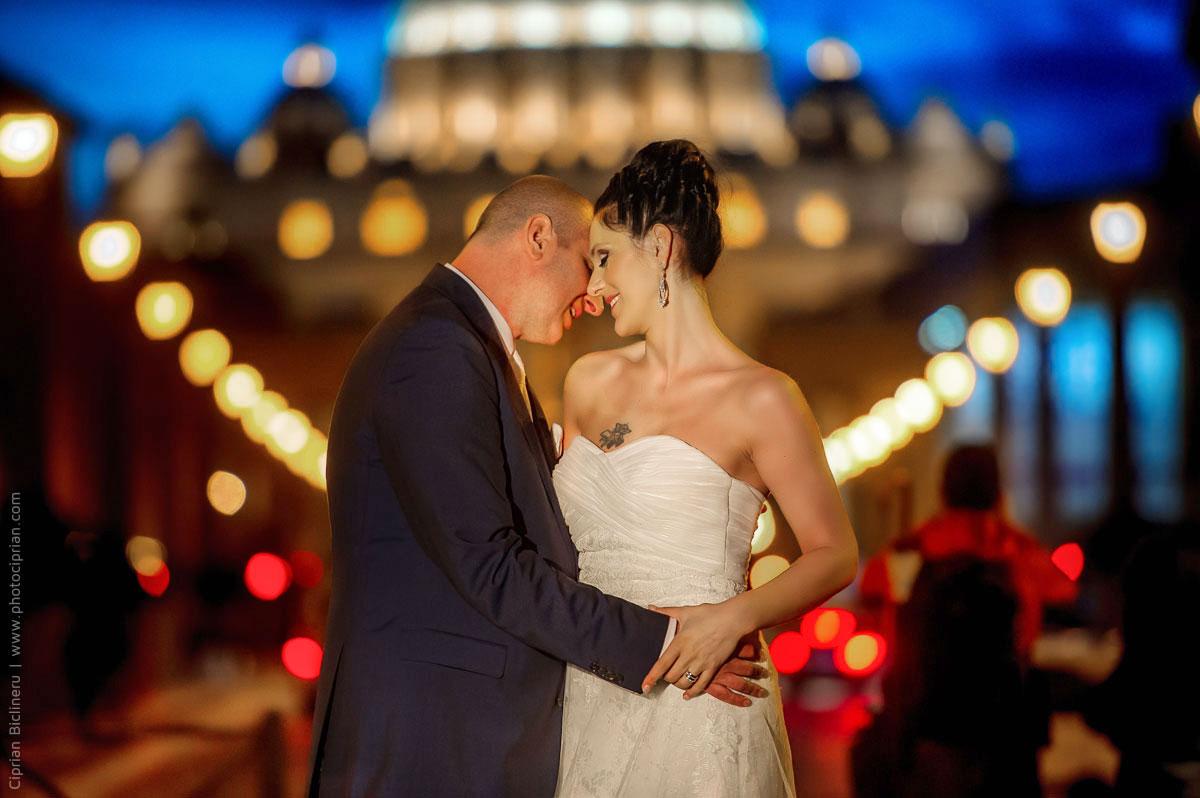 Italienische Liebe in Rom am Abend vor den Vatican