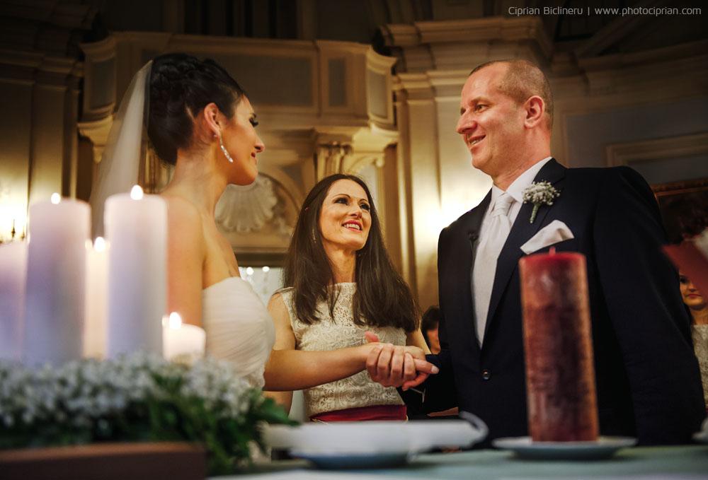Hochzeits-Destination Italien, wunderschöne Trauung