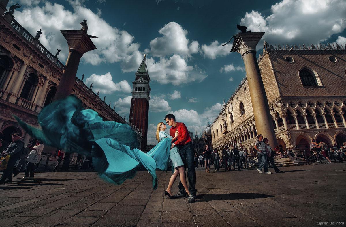 Verlobung in Venedig San Marco Platz