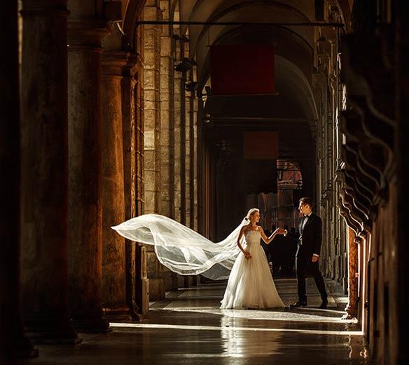 Wunderbare Hochzeitsfotos in Bologna, Italien