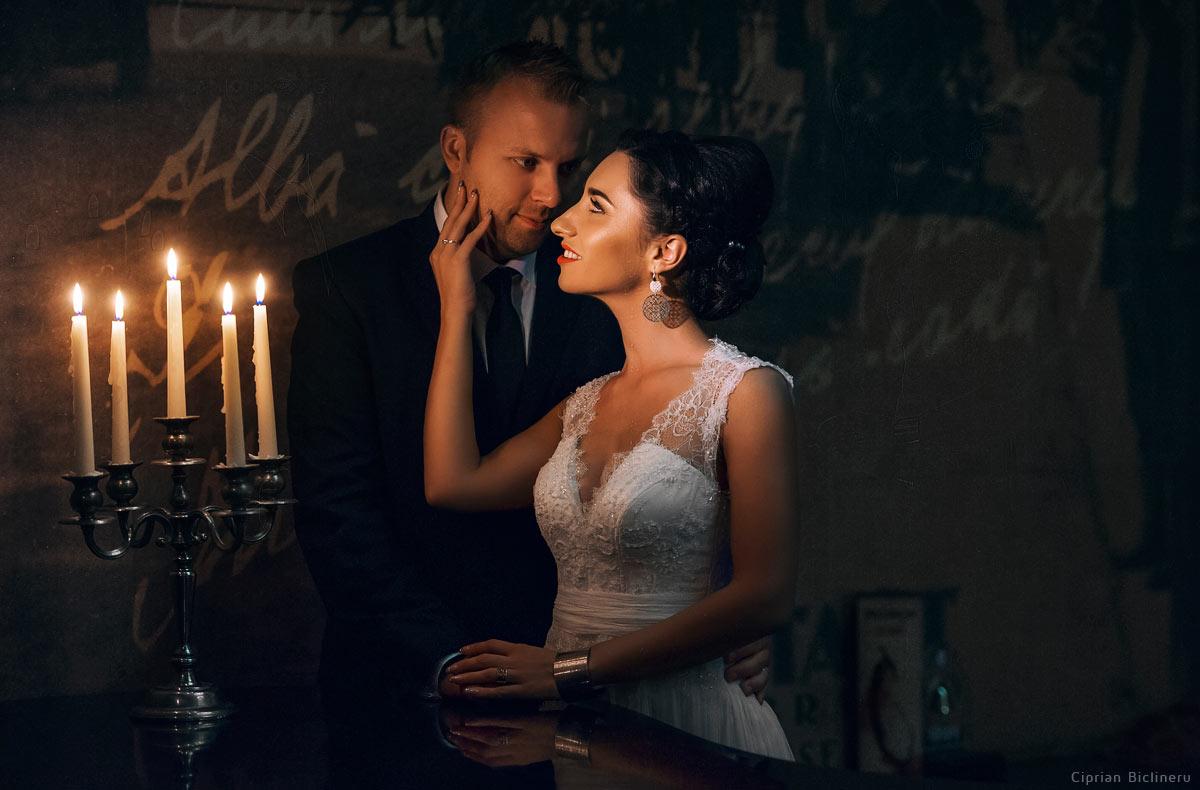 Romantik Brautpaar - ein Foto von Hochzeitsfotograf Frankfurt Ciprian Biclineru