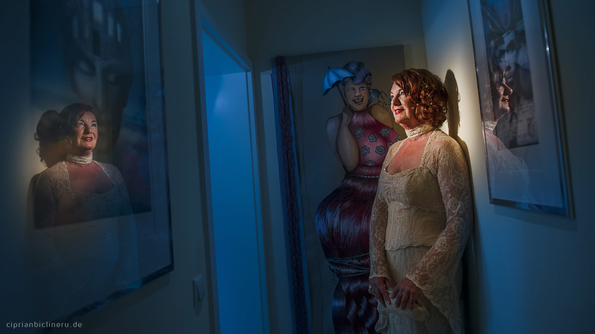Braut Vorbreitung mit Fotosession bei einem Hochzeit in Seligenstadt