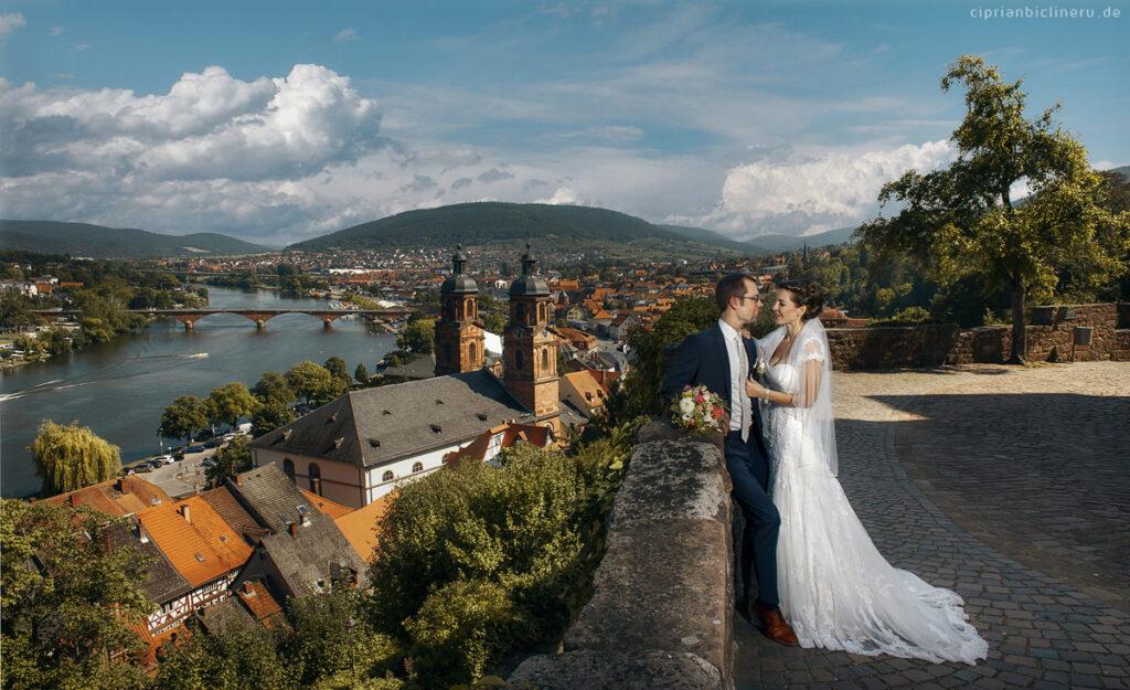 Hochzeit in Miltenberg, Brautpaarshooting