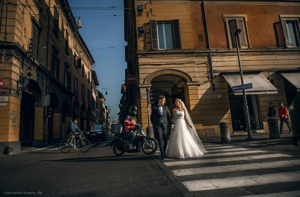 Die Strassen von Bologna - Perfekt für Brautpaarshooting