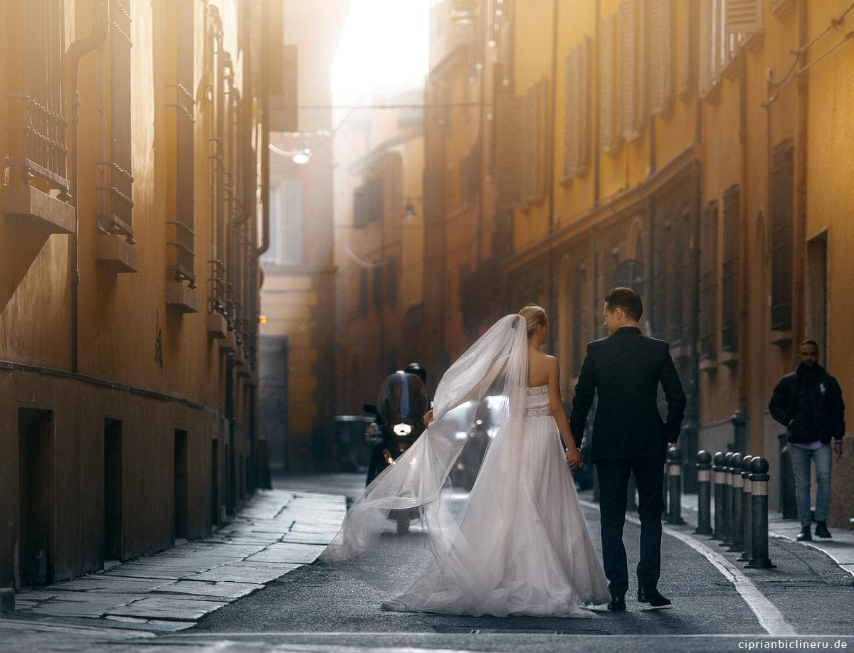 Brautpaar After Wedding Shooting in Bologna