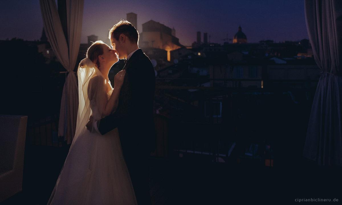 Italien Brautpaarshooting in der Nacht