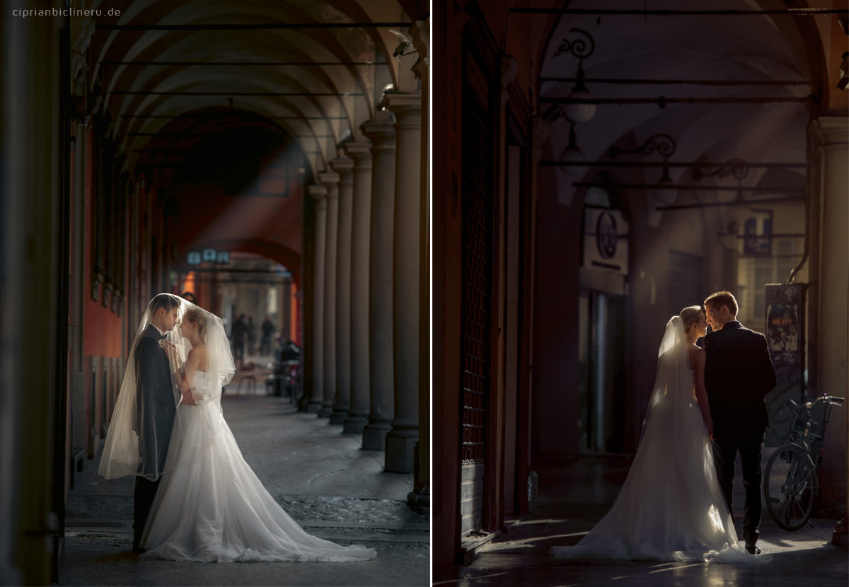 Brautpaar After Wedding Shooting in Toskana, Italien
