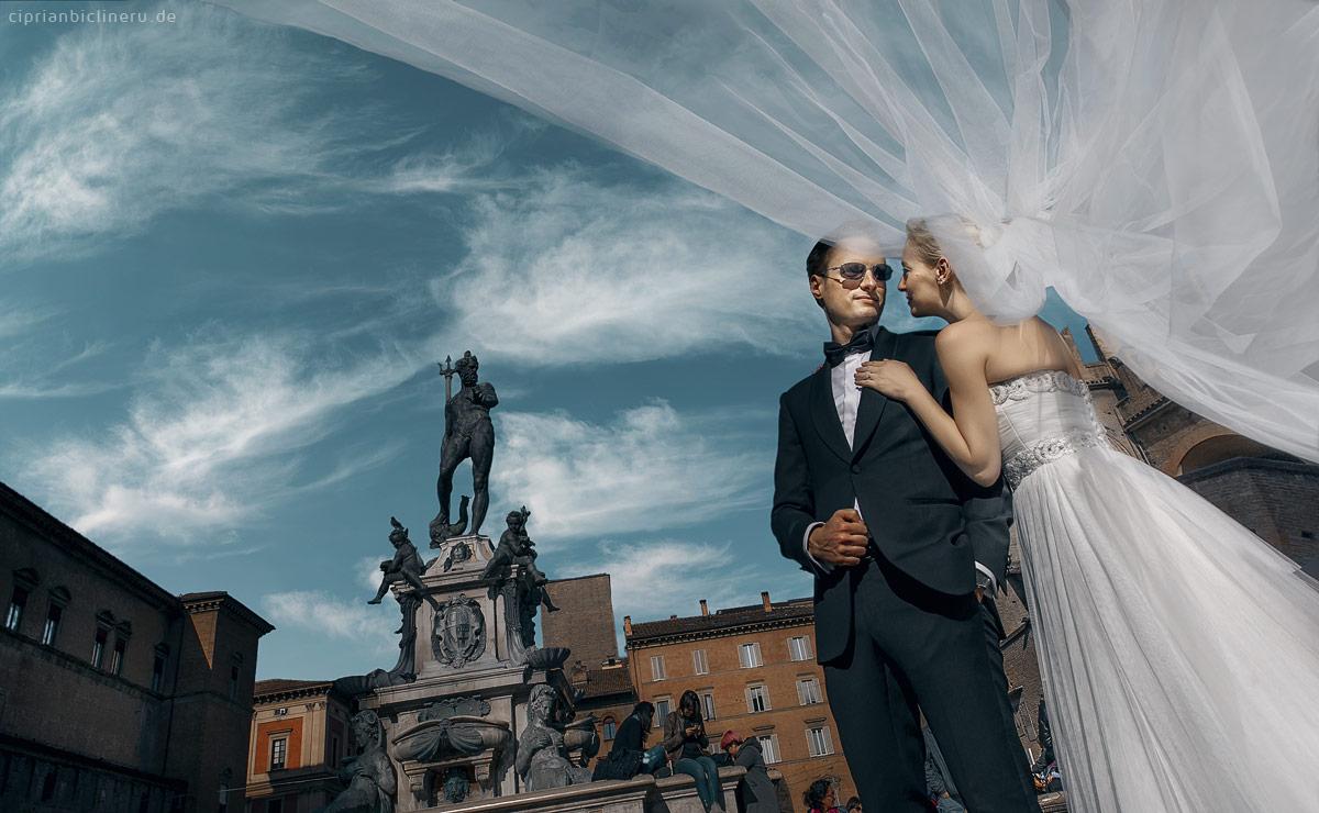 Italien After Wedding Shooting neben Fontana di Nettuno