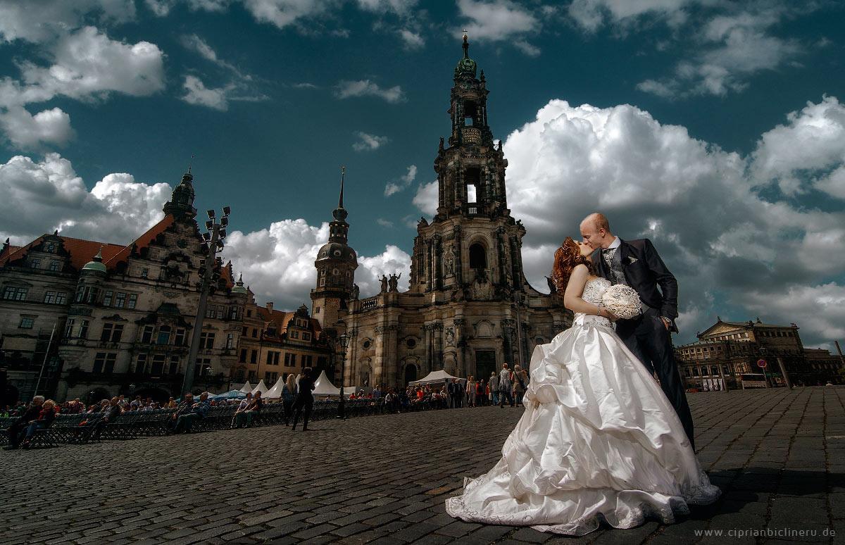 Brautpaarshooting in Dresden Altstadt