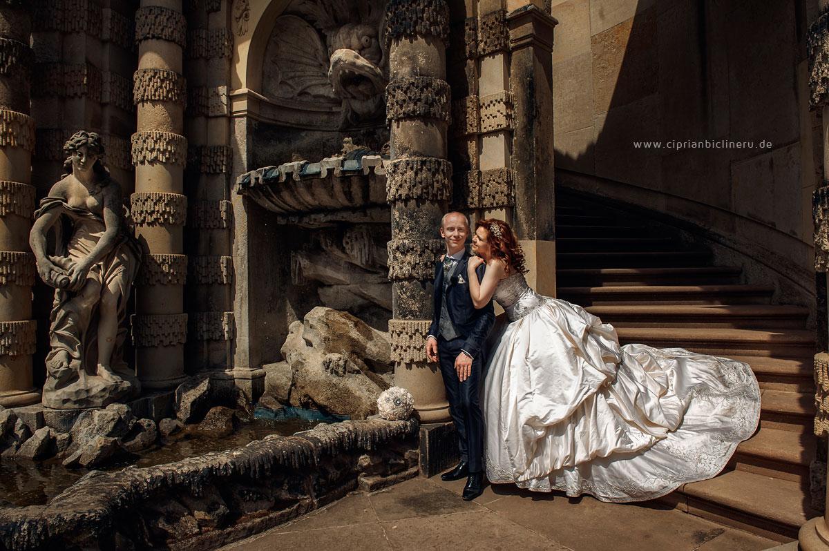 Russische Deutsche Brautpaar