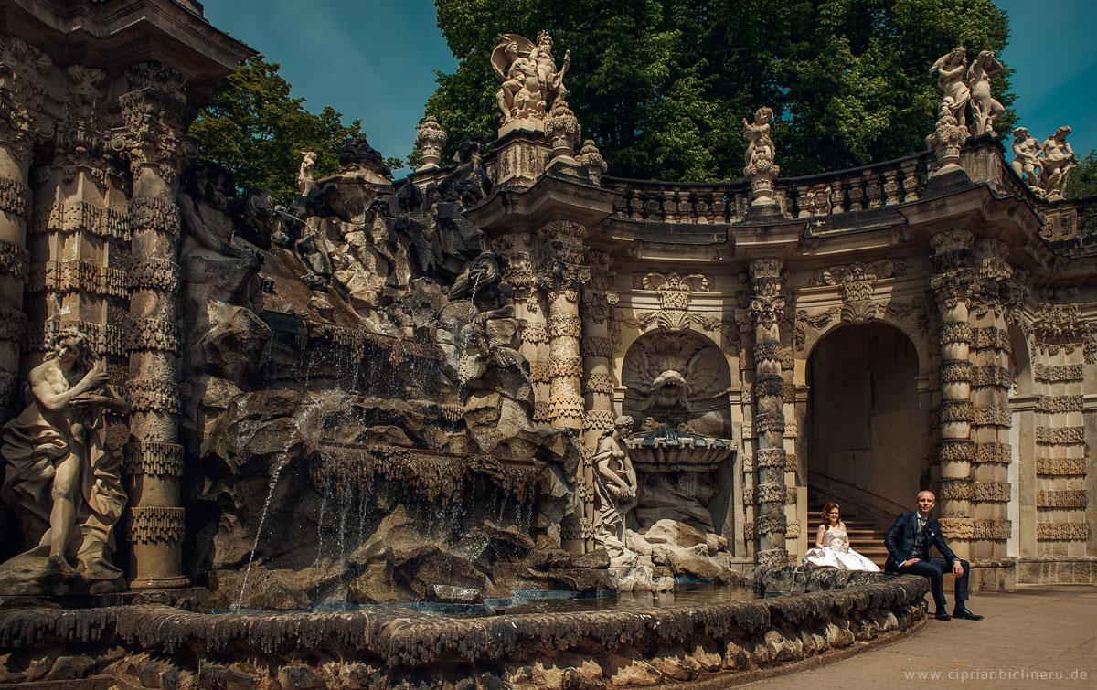 Dresden Altstadt ist wunderschön für Hochzeitsbilder