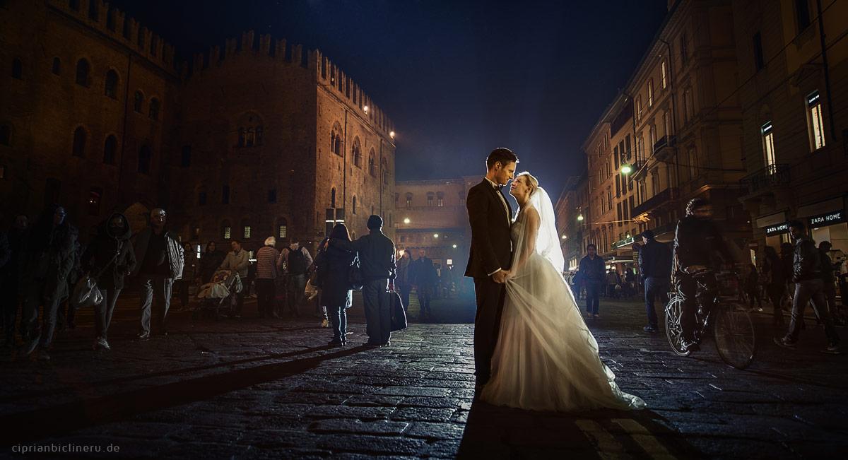 After Wedding Shooting beim Nacht