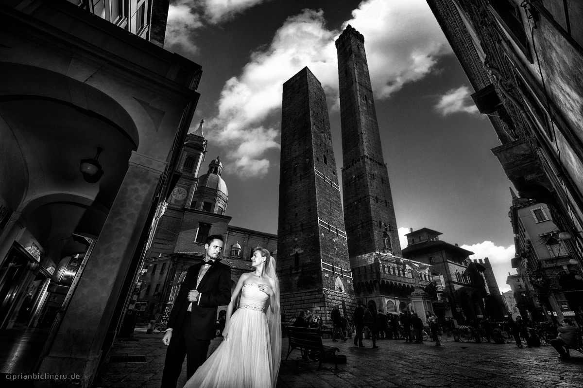 Italien After Wedding Shooting neben Bologna Due Torri