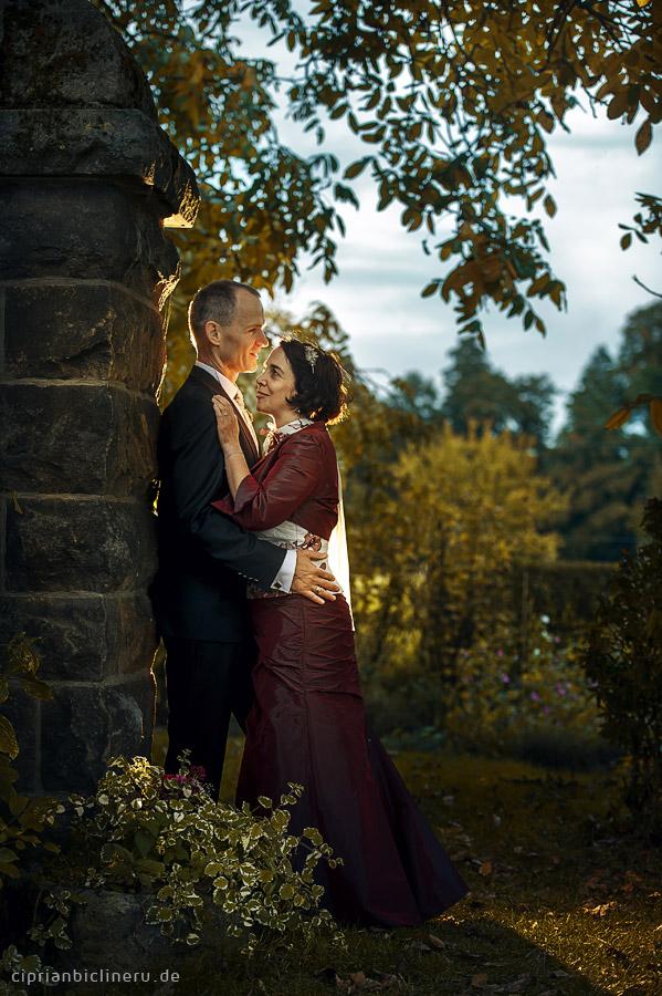 Brautpaarshooting in der nahe von Dresden am Abend