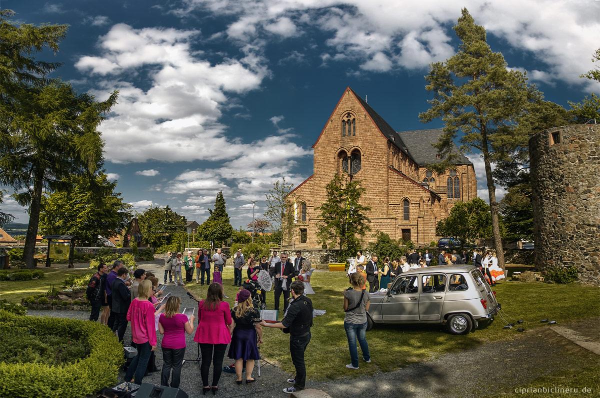 Sektempfang bei Schloss Amoeneburg