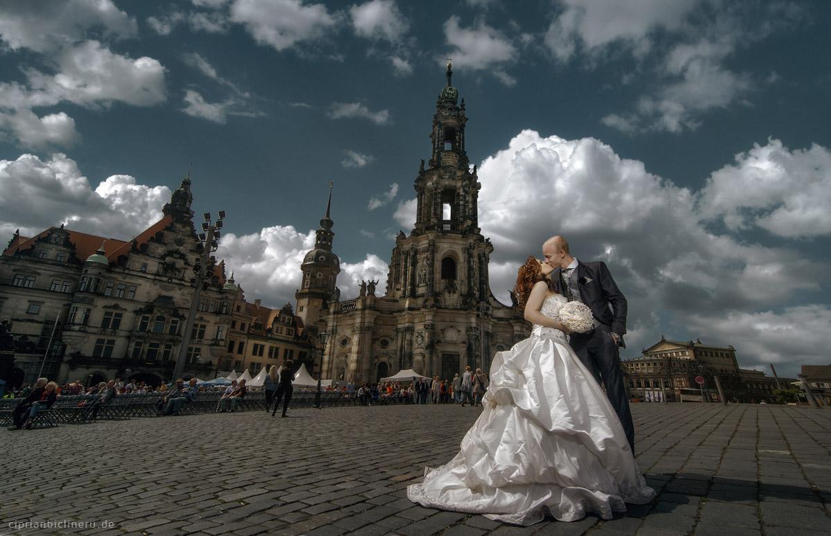 Brautpaarshooting im historischen Altstadt Dresden