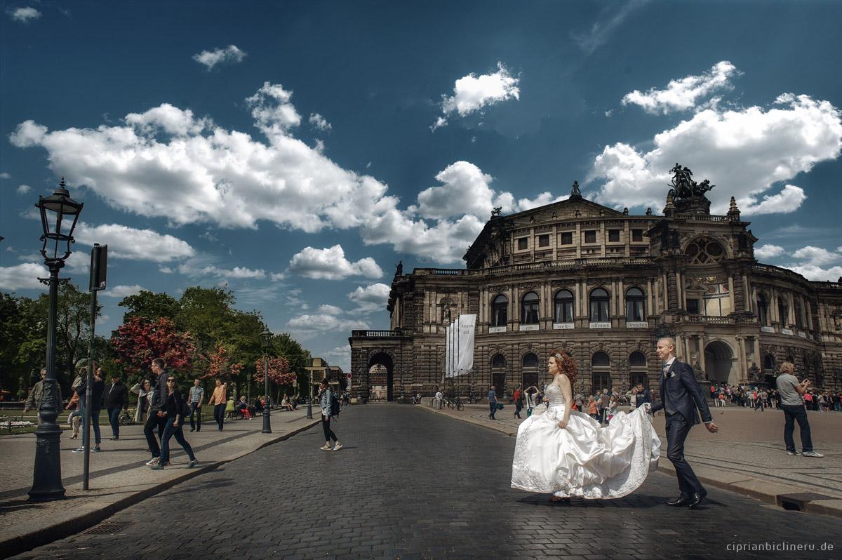 Brautpaarshooting  im historischen Altstadt Dresden 01