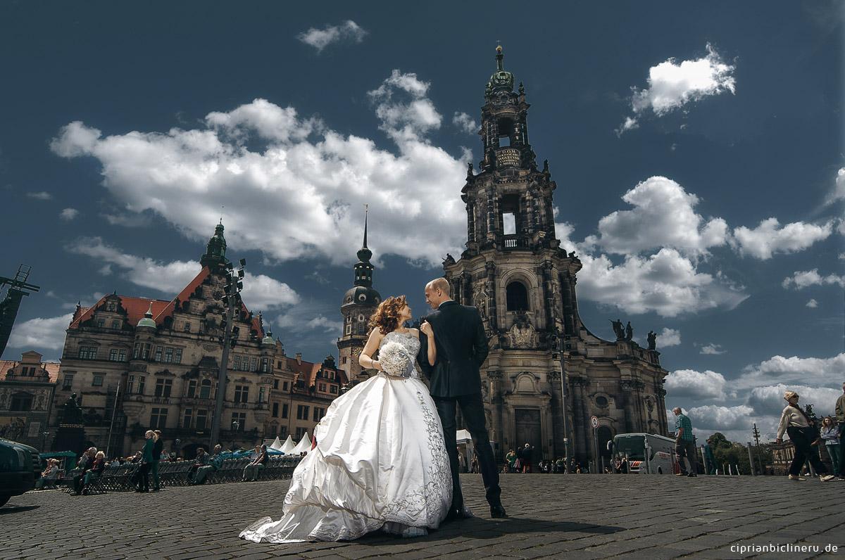Hochzeitsfotos in die historische Altstadt Dresden