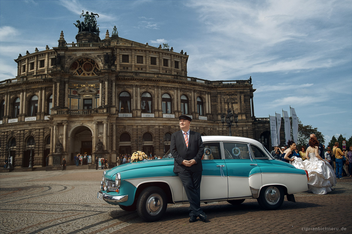 Oldtimer Brautauto Dresden