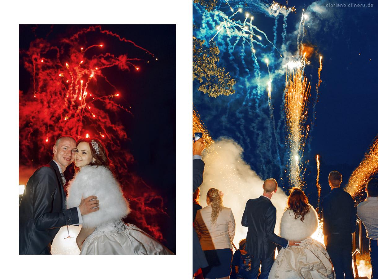 Feuerwerk Show in Dresden Ballhaus Watzke
