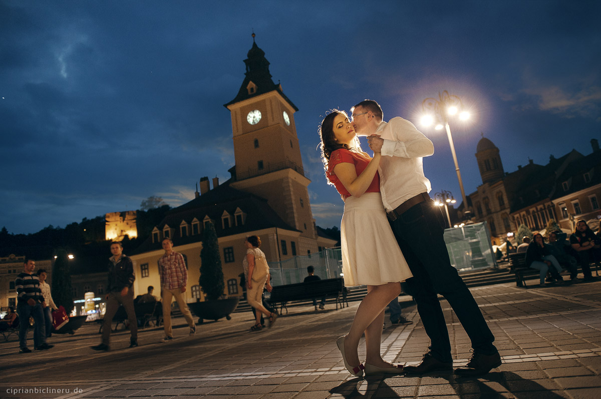 Engagement photography in the medieval city Brasov