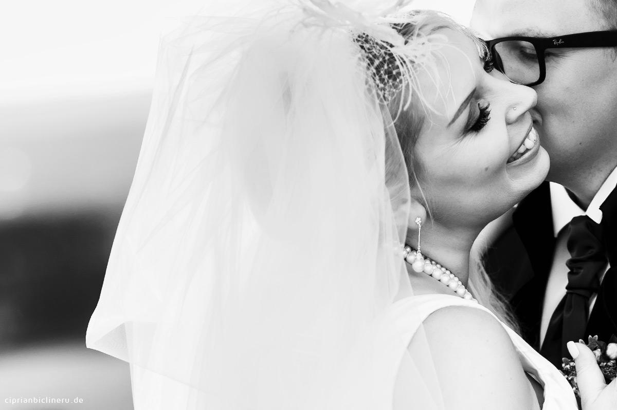 Paar closeup, Braut schönes Lächeln