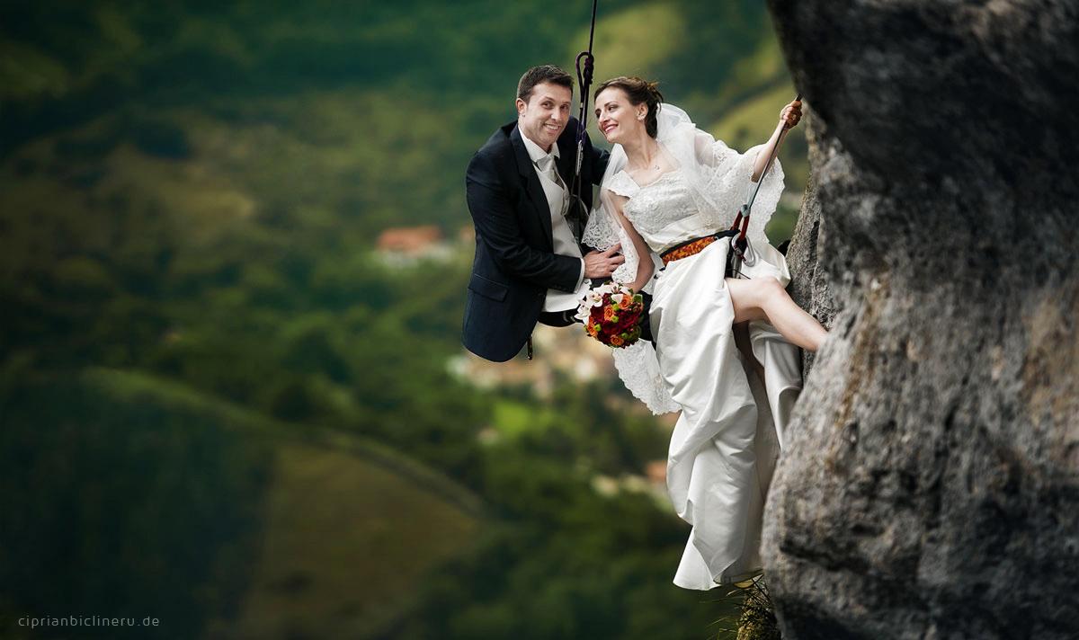 Insane trash the dress in the Alps