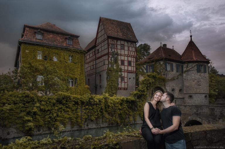 Verlobungsshooting in Schloss Unsleben