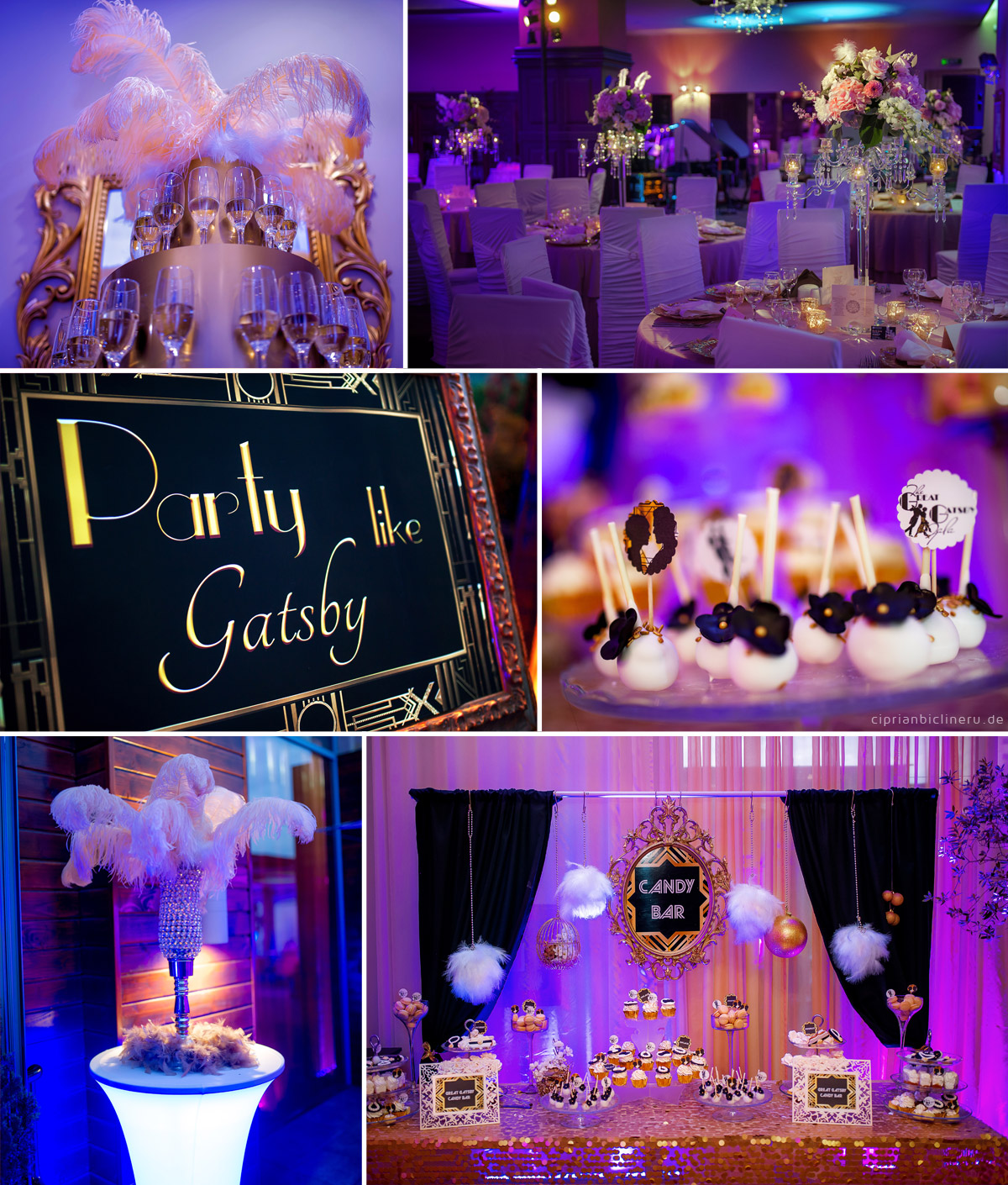 Elegant Wedding in the Great Gatsby Style