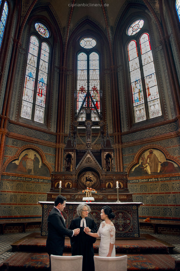 English church ceremony in Bergkirche Wiesbaden