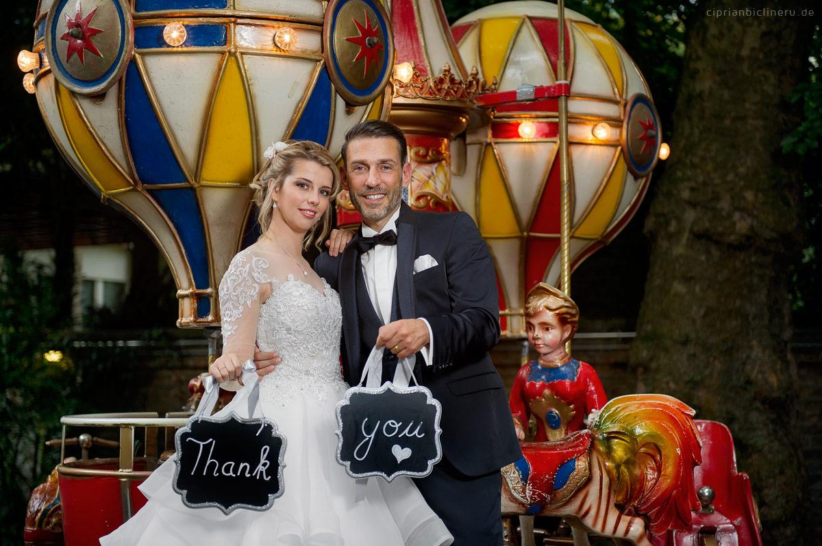 Fantastische Zirkus Hochzeit in Villa Bonn in Frankfurt am Main 18