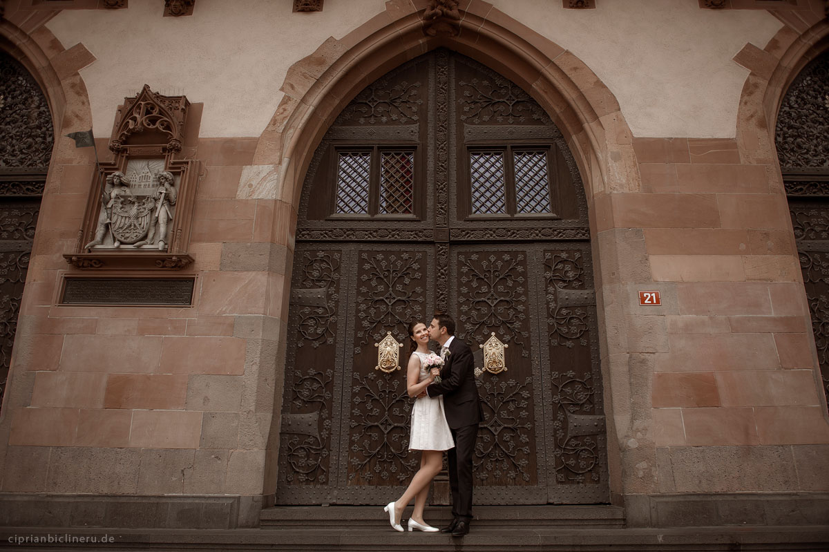 Civil wedding in Römer Frankfurt