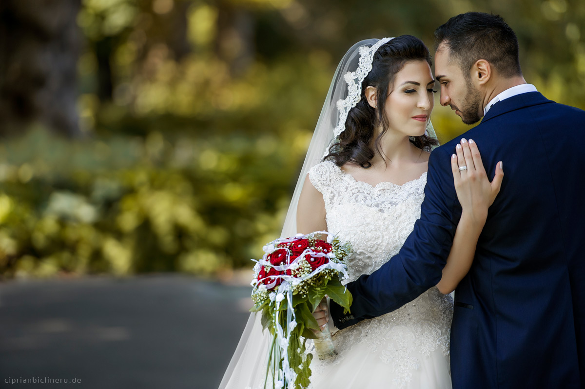 Turkish Bride and groom artistic wedding portraits