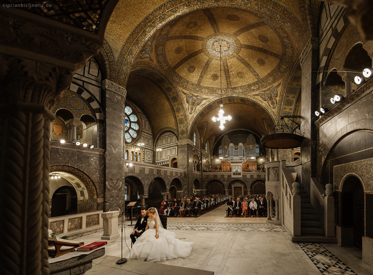 the church wedding ceremony in Bad Homburg