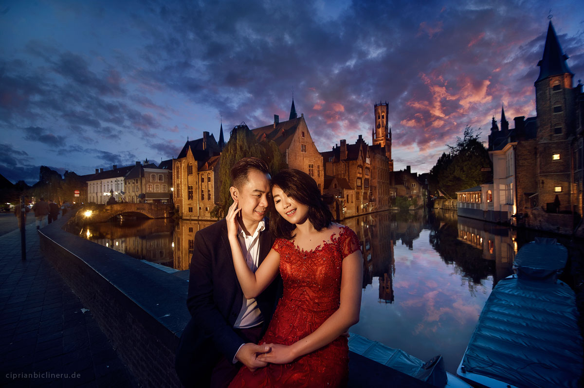 re wedding photo shoot in Bruges, Belgium