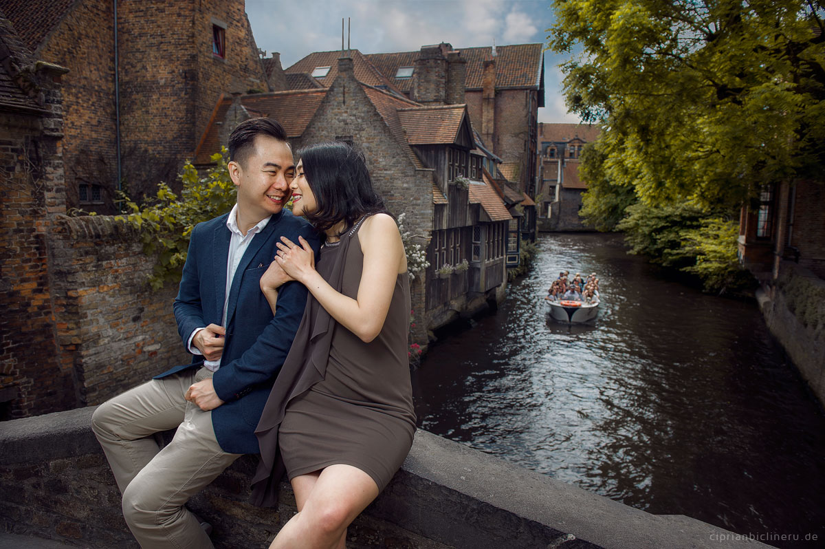 Pre wedding photo shoot in Bruges, Belgium