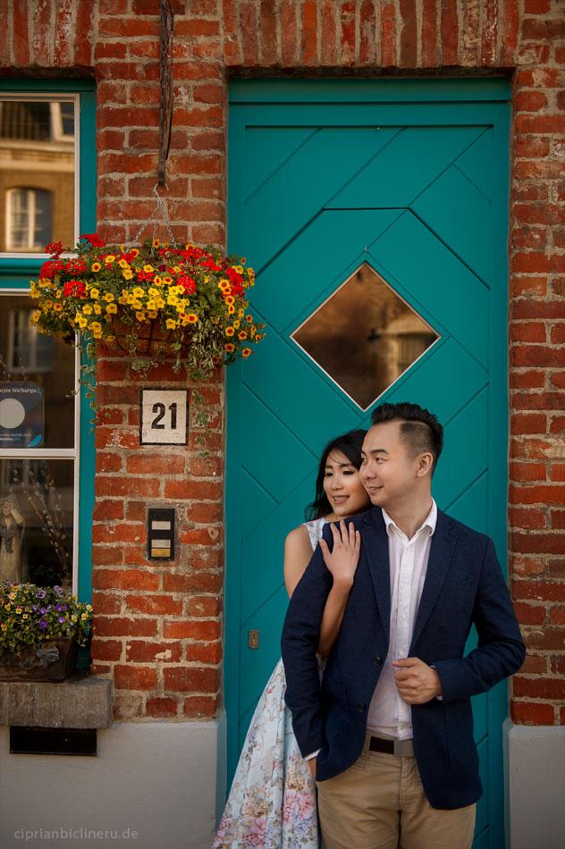 Verlobungsshooting in Brügge, Belgien