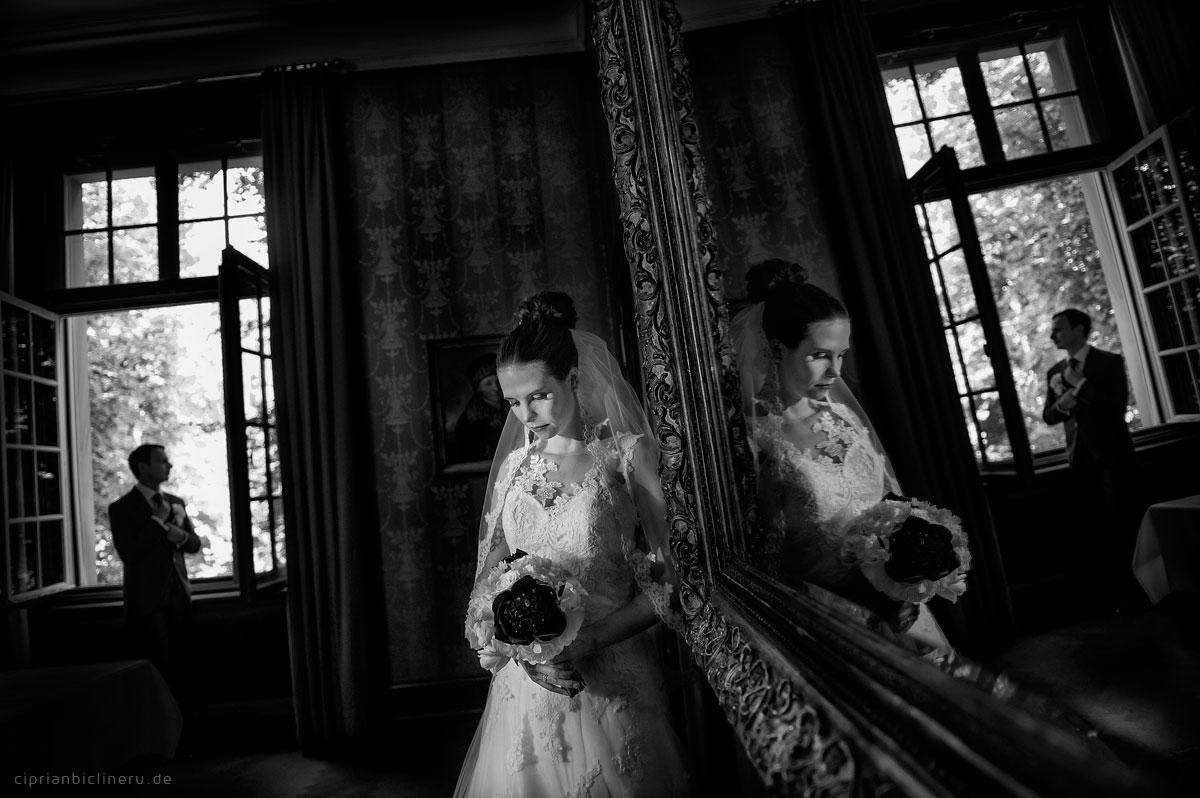 Schwarz Weiss Brautpaarshooting