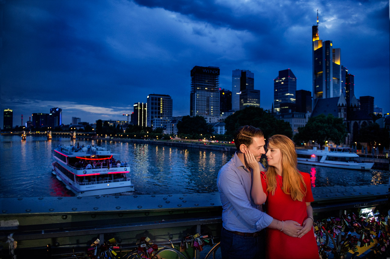 Verlobungsshooting im Frankfurt am Main