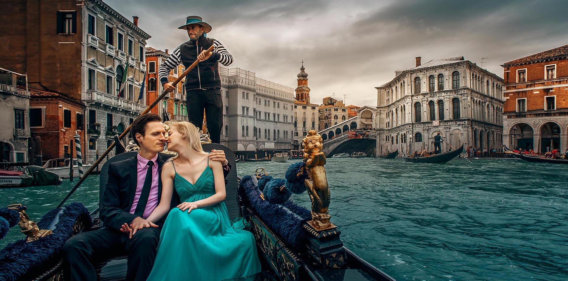 Verlobungsshooting im Venedig