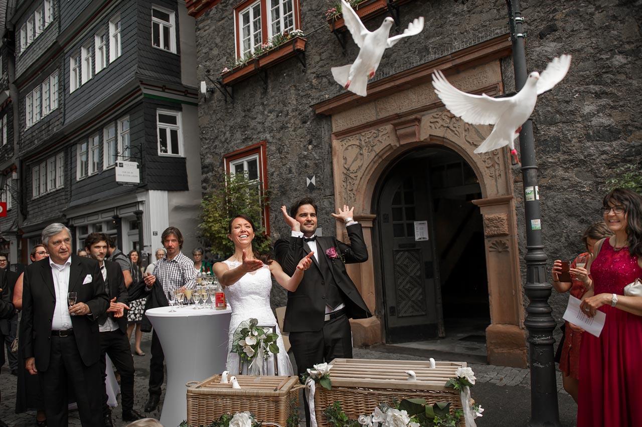 Hochzeitsfotograf in Herborn - Standesamtliche Trauung im Herborn