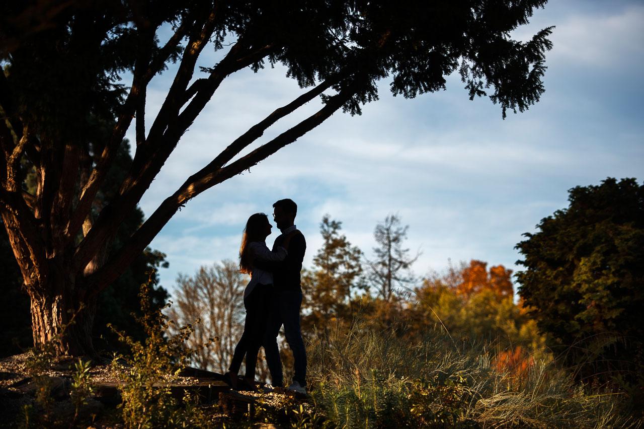 Engagement photoshoot in Palmengarten, Frankfurt am Main