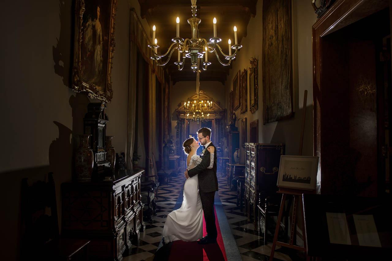 Braut und Bräutigam Fotoshooting im Schlosshotel Kronberg