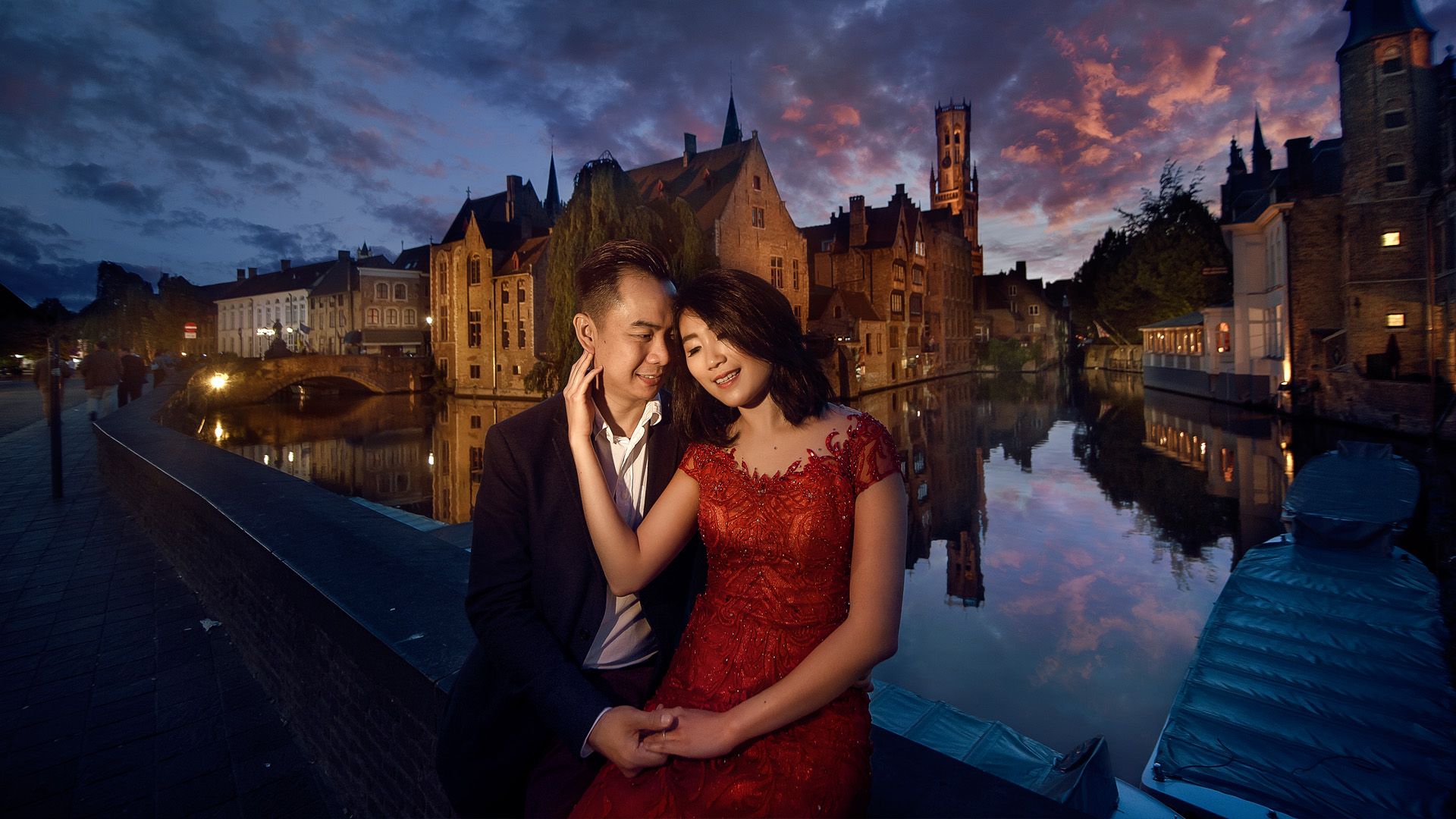 Pre Wedding in Bruges am Abend