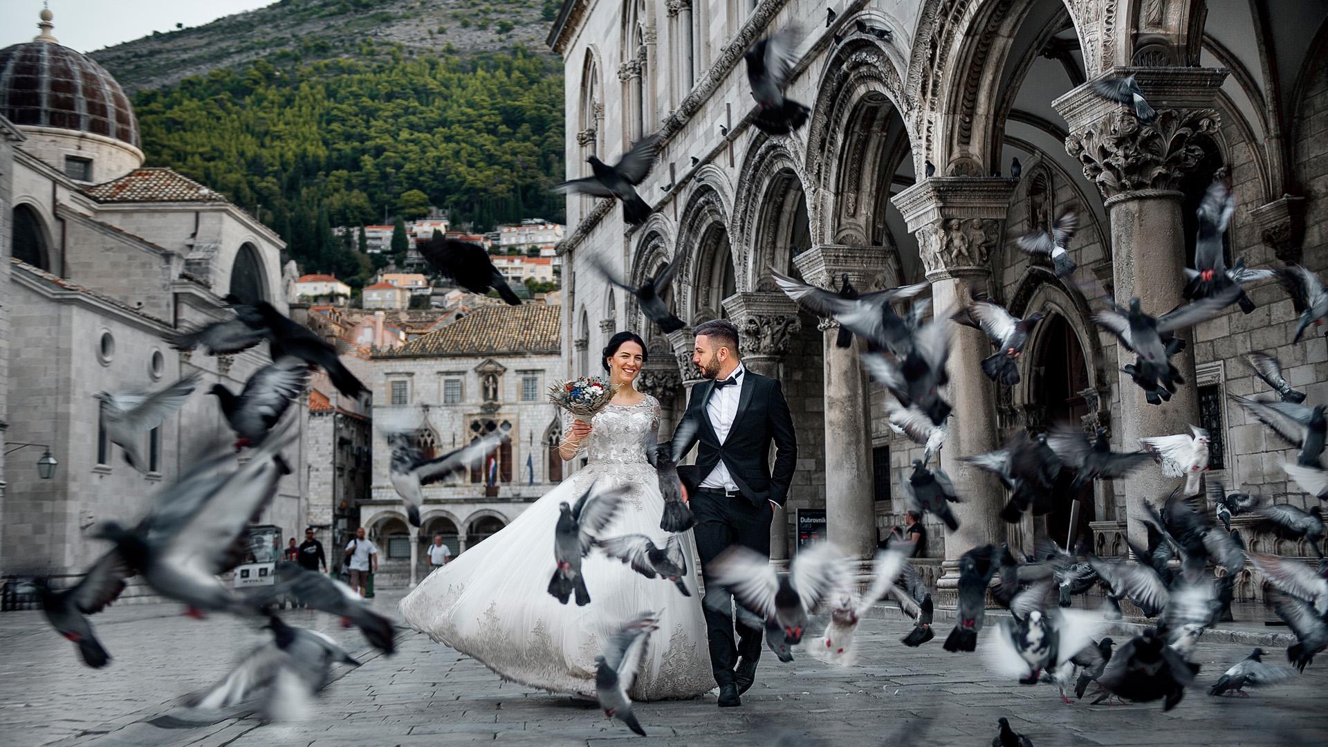 Fotoshooting nach der Hochzeit im Paris