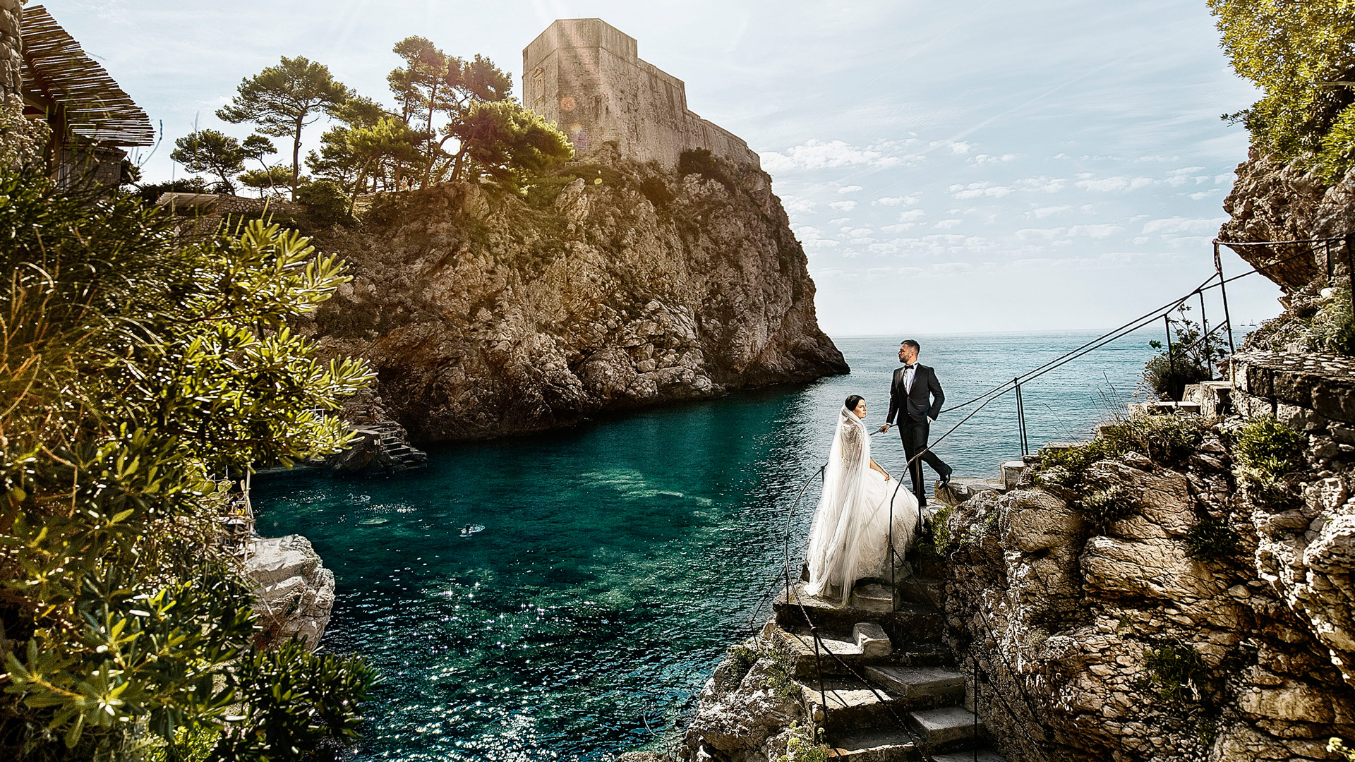 After wedding shooting in Dubrovnik