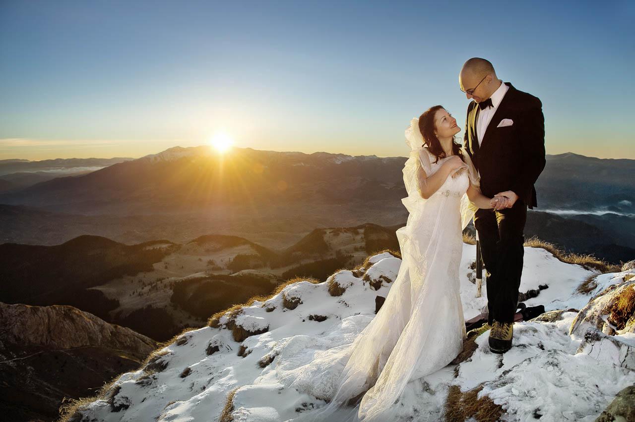 Freie Trauung auf der Spitze eines Berges