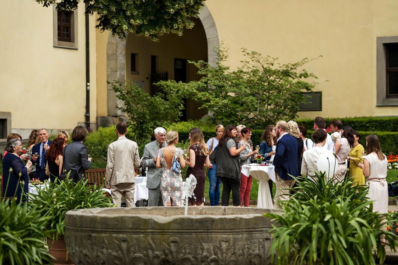 Sektempfang im Schlossgarten Fulda