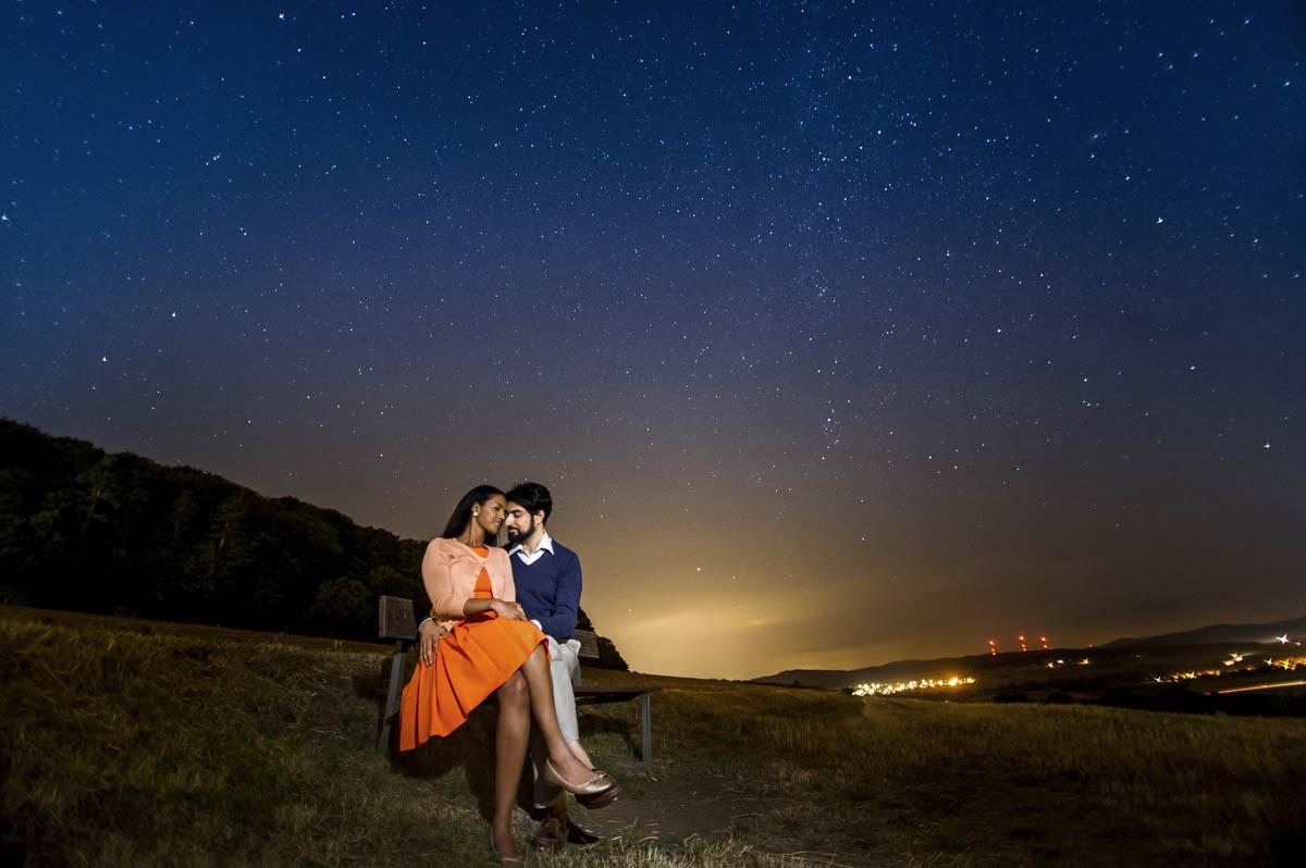 Verlobungsshooting in der Nacht Rauschenberg Petersberg